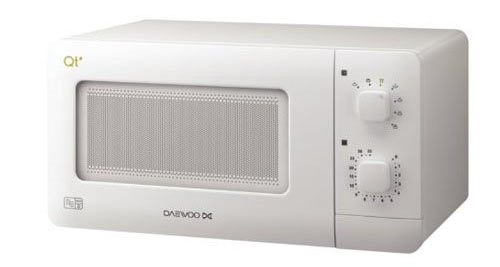 Our favourite white microwave is the Daewoo QT1