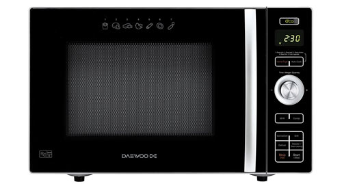 The Daewoo KOC8HAFR is our top pick for a small combi microwave
